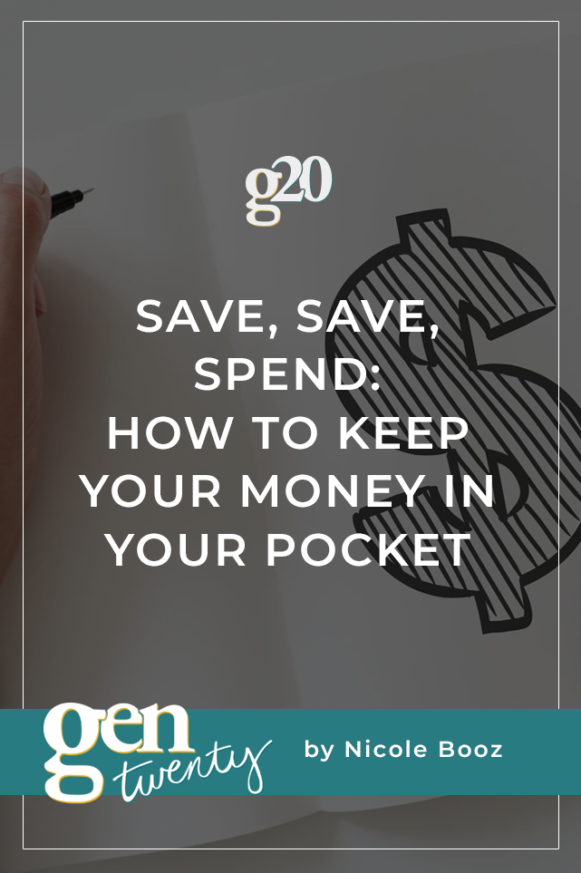 how to keep your money in your pocket