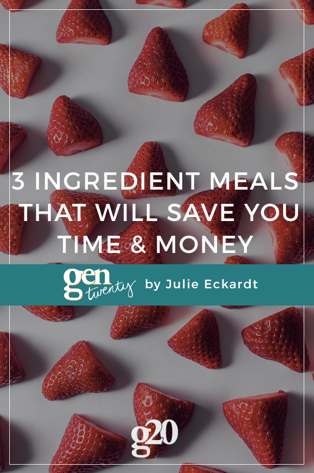 These 3 ingredient meals take minimal time to prepare, and are healthy & cheap, too!