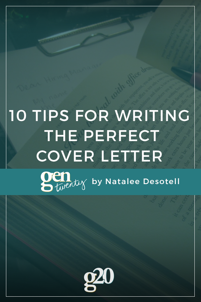 10 tips for writing the perfect cover letter gentwenty