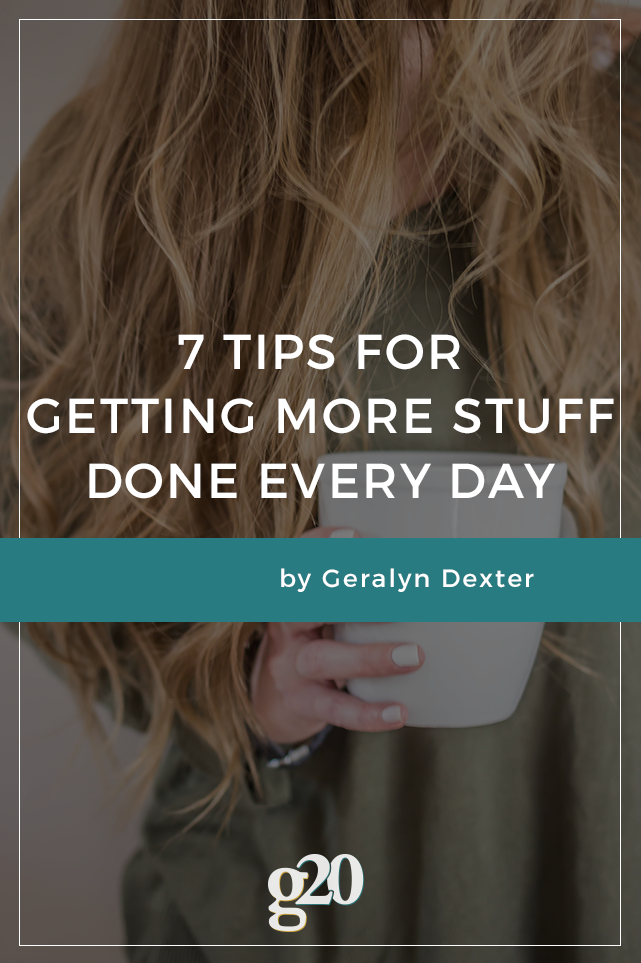 You sure are busy! And with an ever-growing to-do list, it doesn't seem like it's going to get any easier. Read on for 7 tips to get more stuff done everyday.