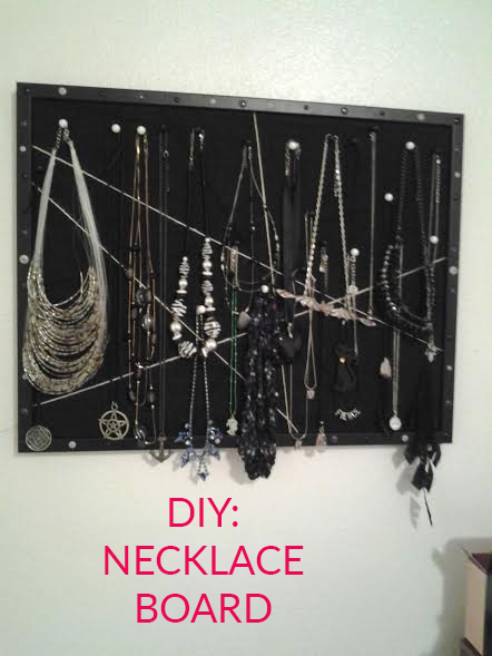 DIY: Necklace Board for Your Jewelry Organization Needs