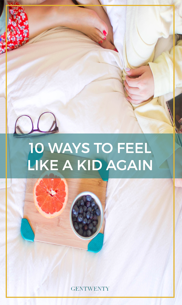 Being an adult sucks. There's always work to be done. A lot is expected of you. You have to pay for food.  Here are 10 simple ways to bring back the carefree feeling from childhood.