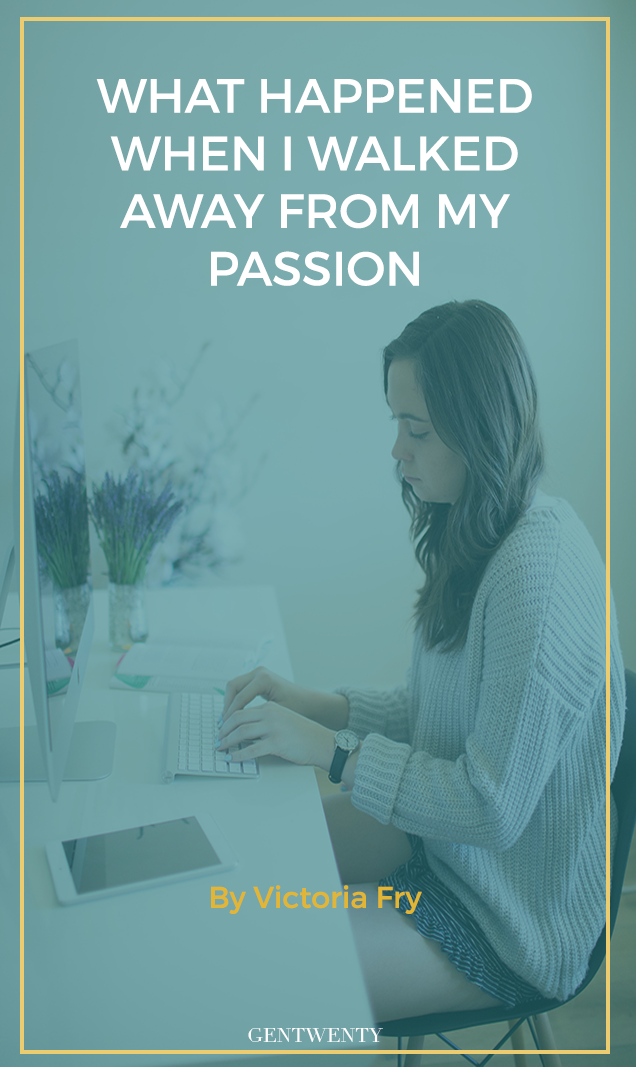We all have passions that call to us, but sometimes, it's those same passions that become burdensome. Here's what happens when you walk away from what speaks to your soul.