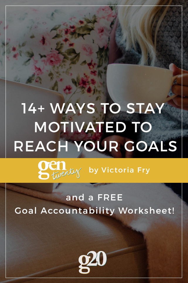 Holding yourself accountable isn't always fun, but it's always worth it! Download our FREE Goal Accountability Worksheet to keep you on track with your goals!