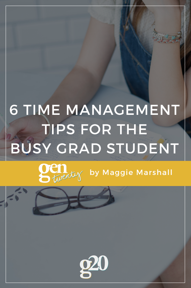 Time Management for the Busy Grad Student