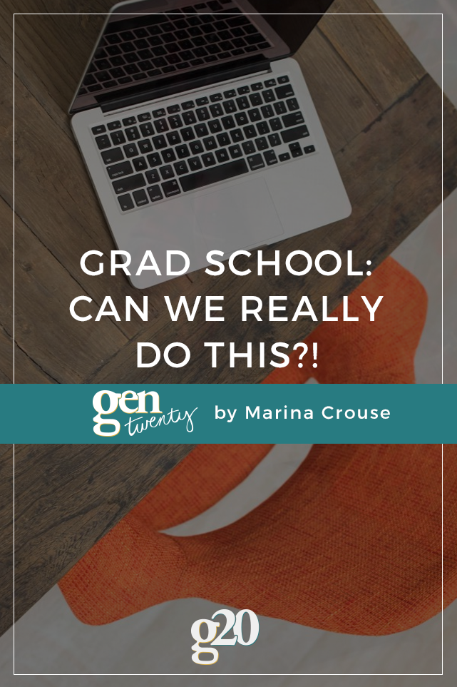 I decided to grad school. Or rather, APPLY to grad school. But I'm wondering... can I do it?