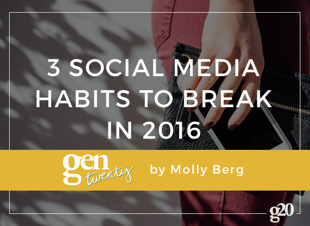 Let's work together to keep social media a kind, honest, and human place by breaking these nasty habits in 2016.
