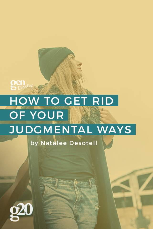 We judge because we're hard-wired to judge. But that doesn't mean it's good for us.
