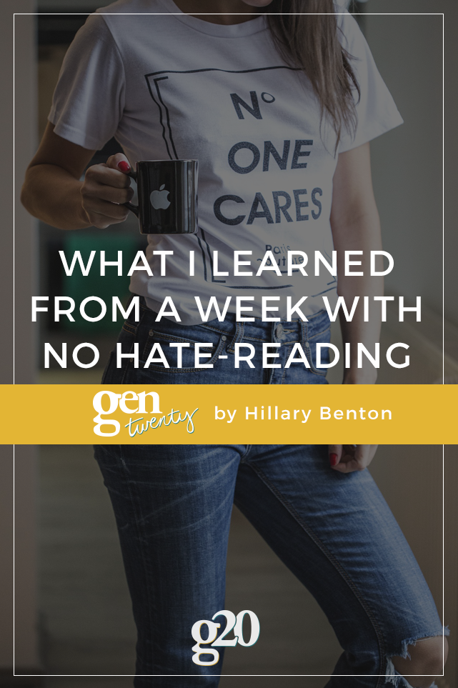 What I Learned From a Week With No Hate-Reading