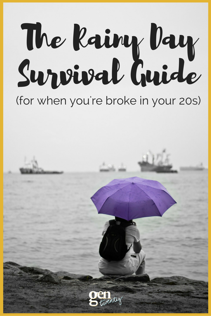 The Rainy Day Survival Guide For Twenty-Somethings