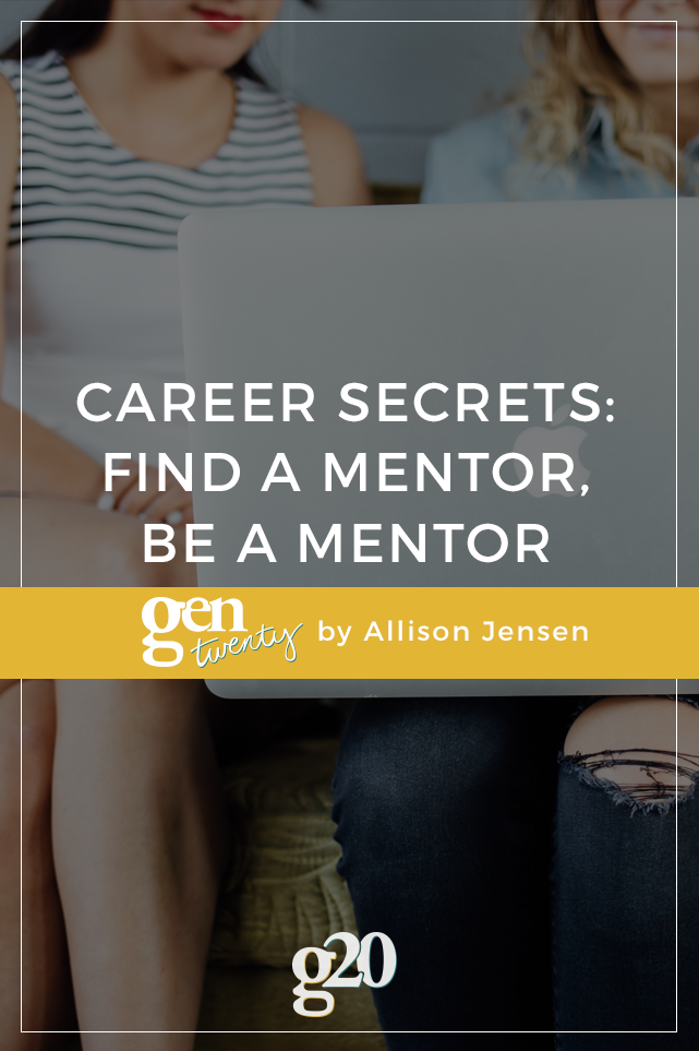 Repeat After Me: Find a Mentor, Be a Mentor