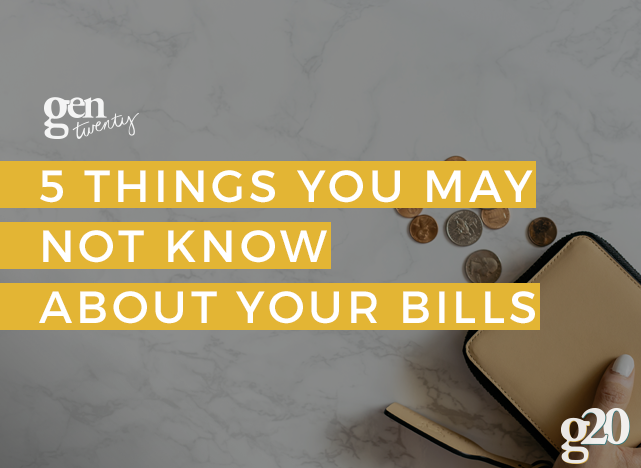 Five Things You May Not Know About Your Monthly Bills