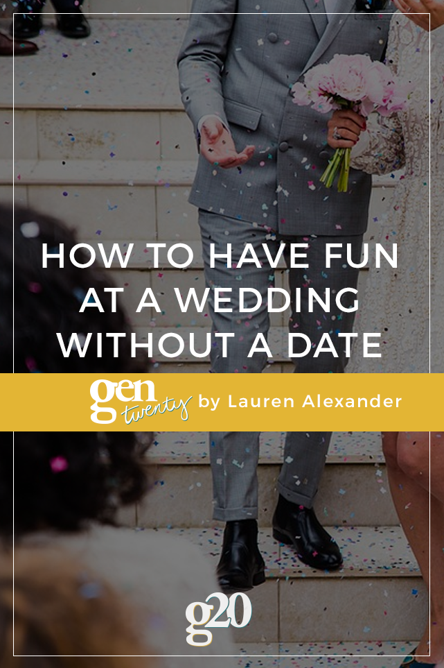 How To Have Fun at a Wedding Without a Date