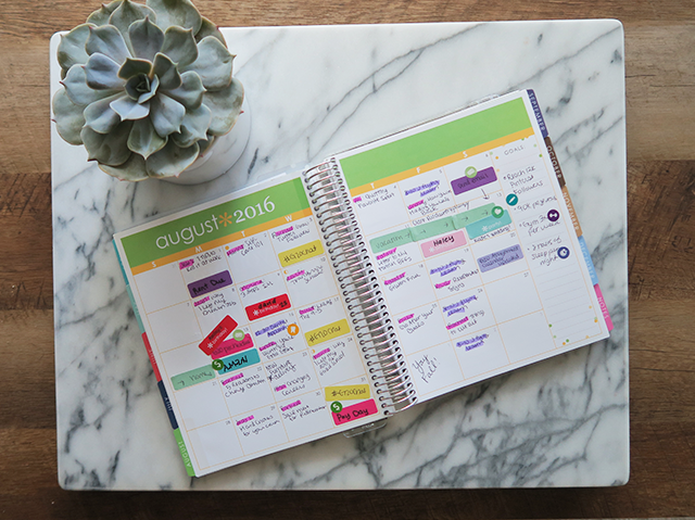 Color coding your planner can help you stay organized and plan better!