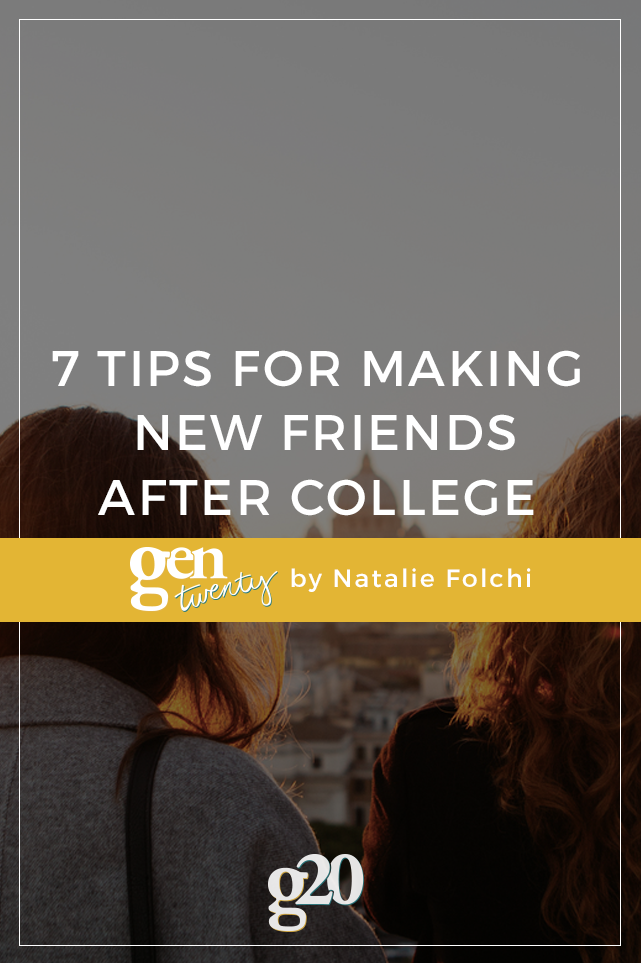 7 Tips for Making New Friends After College