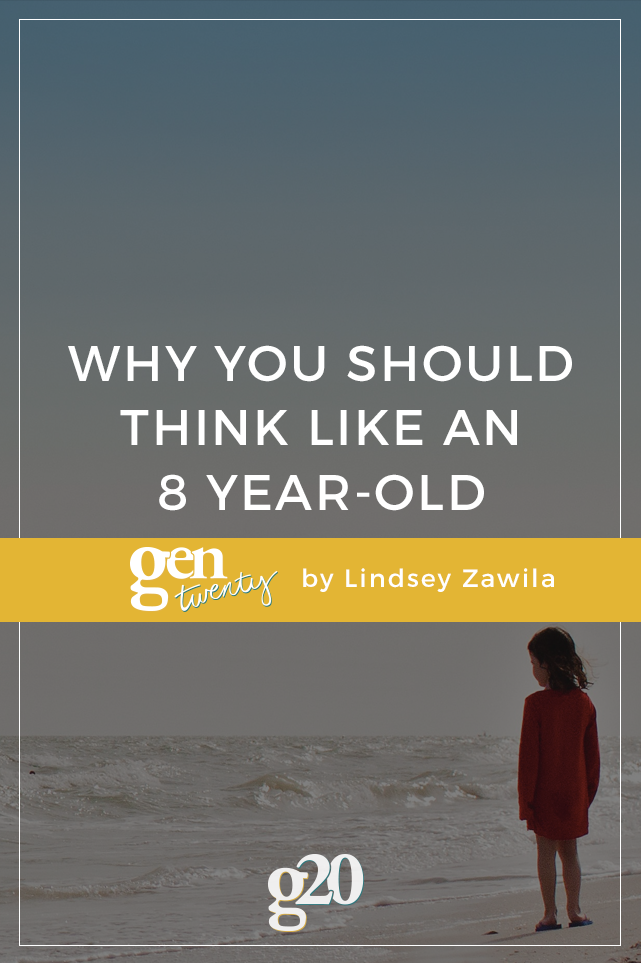 Note To Self: It's OK To Think Like An Eight Year-Old