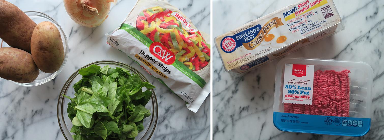 Easy, healthy breakfast casserole ingredients!
