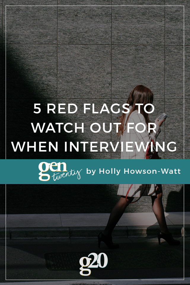 5 Red Flags To Watch Out For When Interviewing For Your First Job