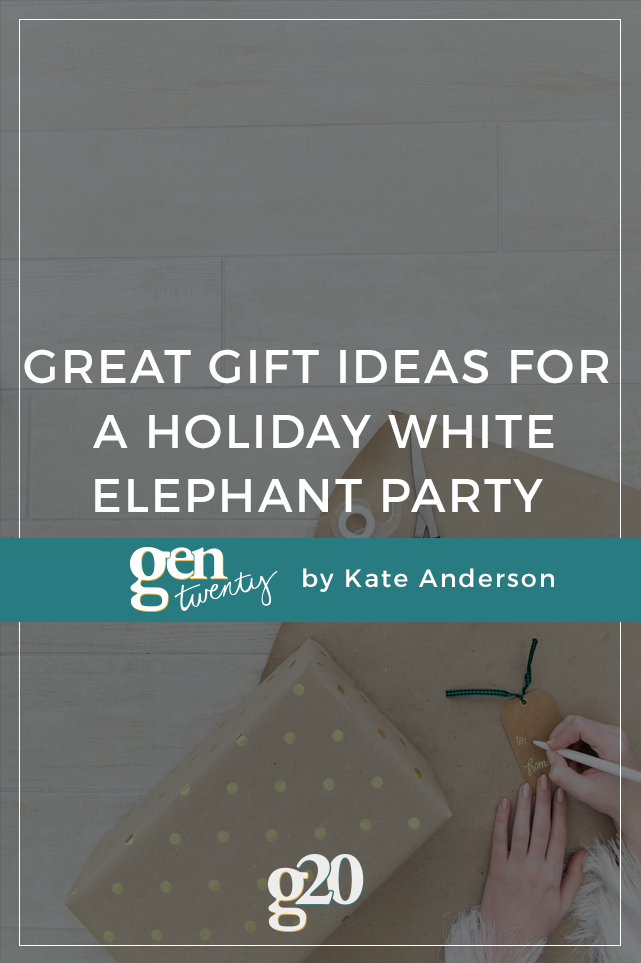 Great Gift Ideas For a Holiday White Elephant Party