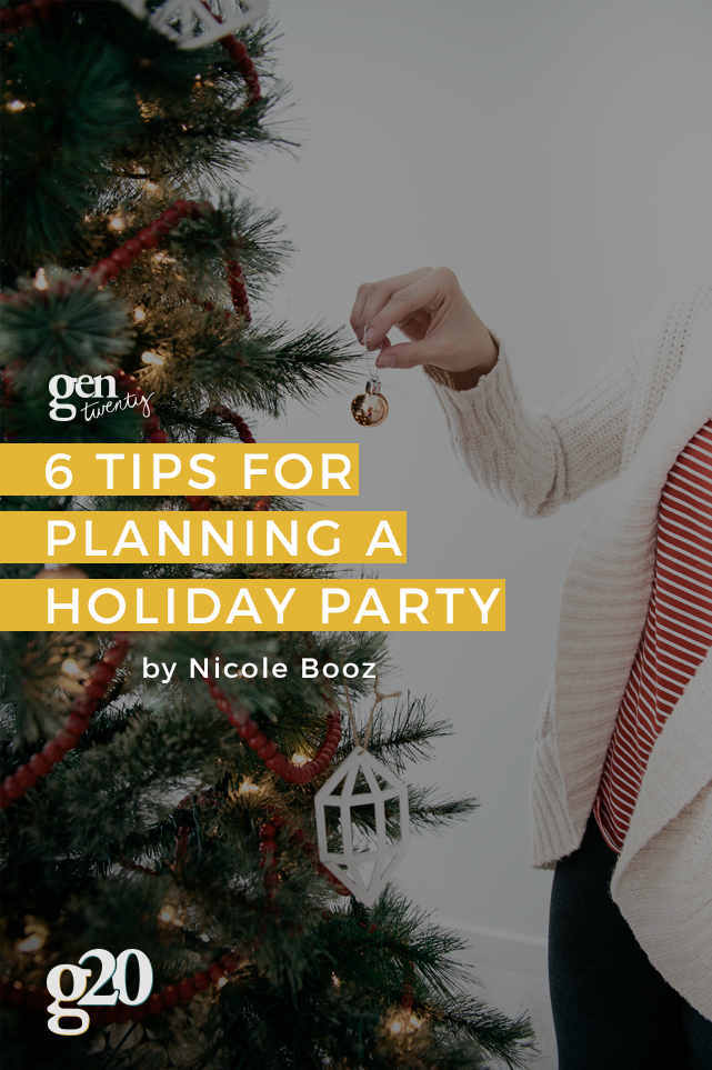 6 Tips For Planning a Holiday Party With Friends