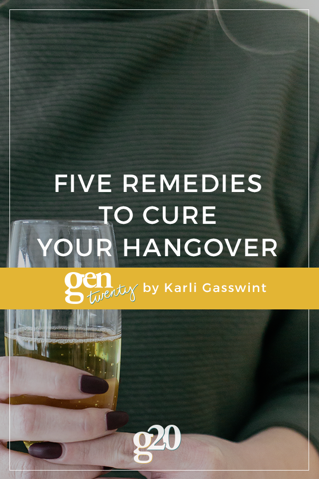 5 Remedies For Your Hangover