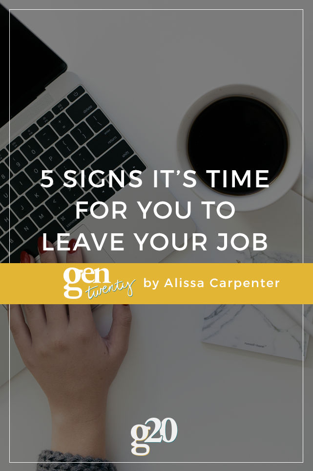 5 Signs You Need a New Job