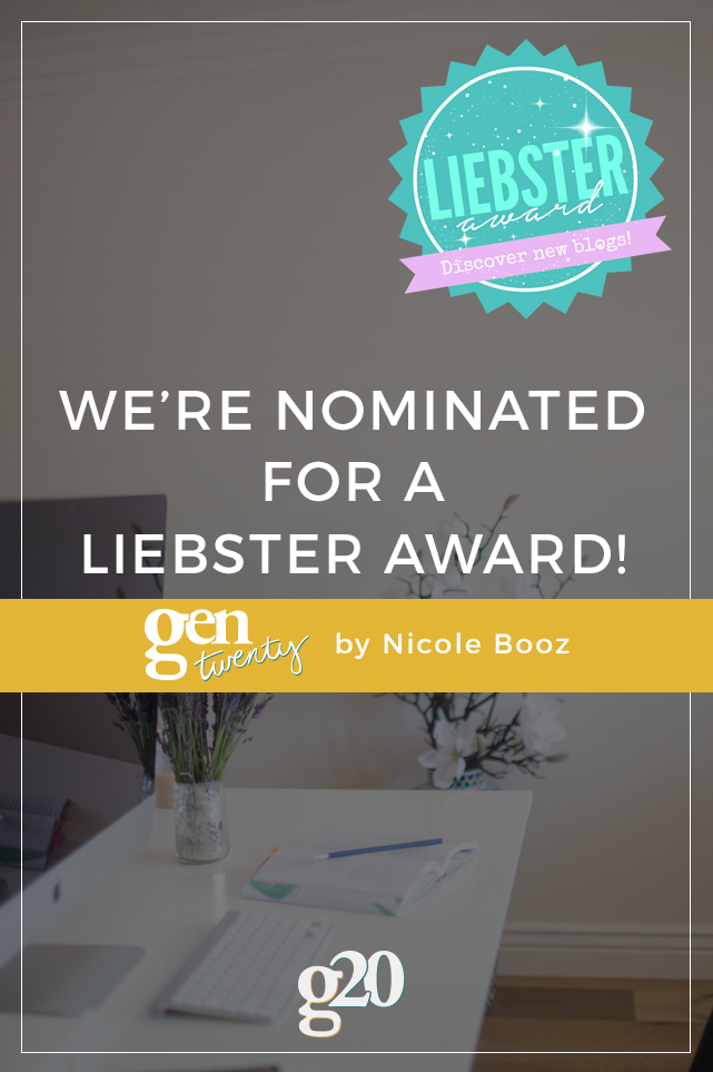 We Were Nominated For a Liebster Award!