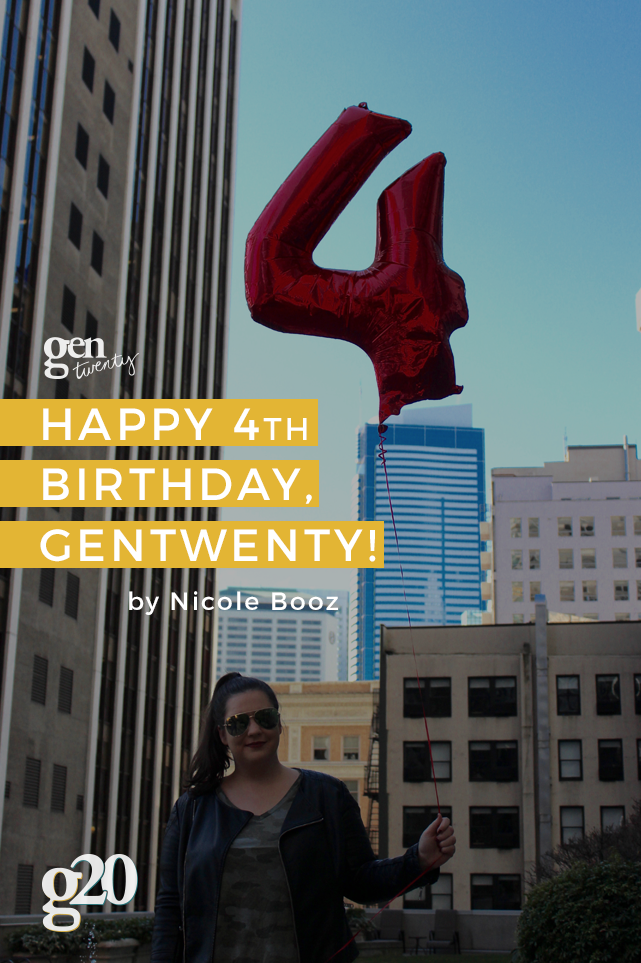 Happy 4th Birthday, GenTwenty!