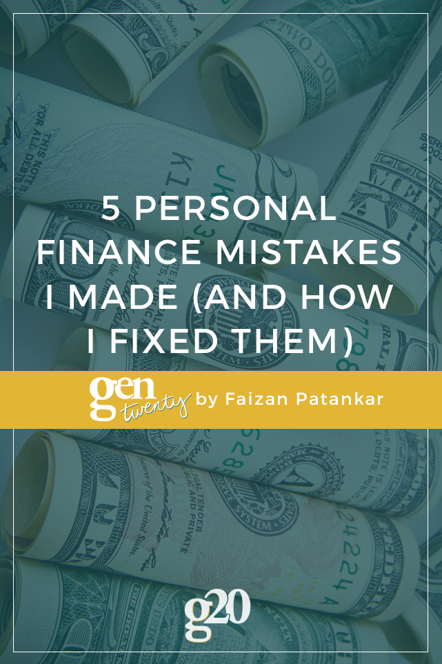 5 Personal Finance Mistakes I Made (and How I Fixed Them)