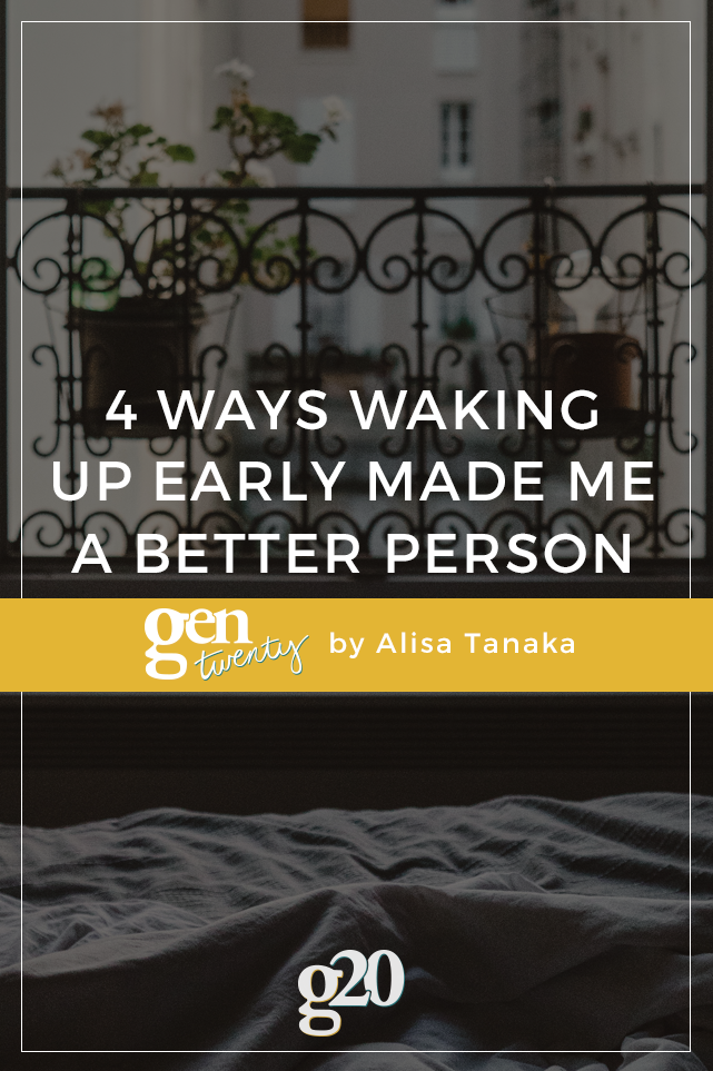 How Waking Up Early Made Me A Better Person