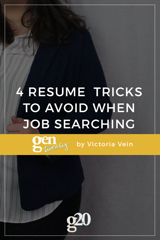 4 Resume Tricks You Should Definitely Avoid