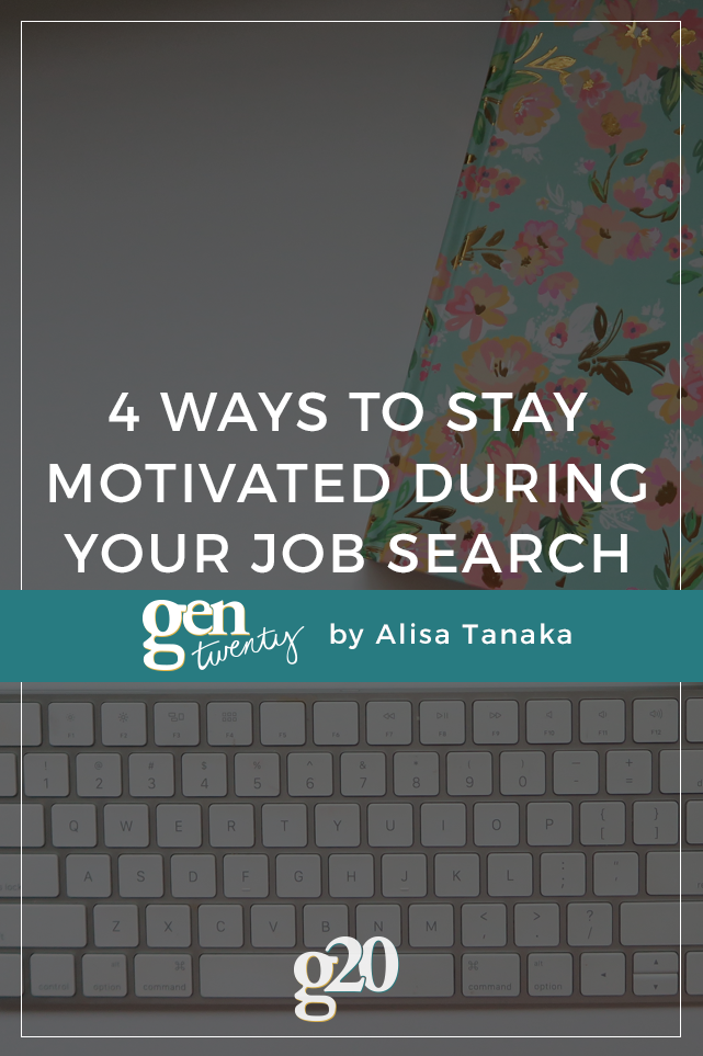 how to stay upbeat during a job search