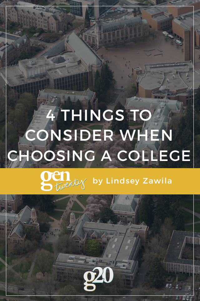 Choosing a college is a weighty decision.
