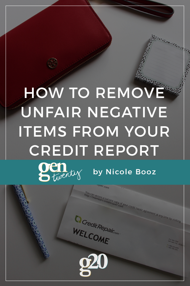 An inaccurate credit report can cost you thousands of dollars! Here's how to get those unfair negative items from your credit report.