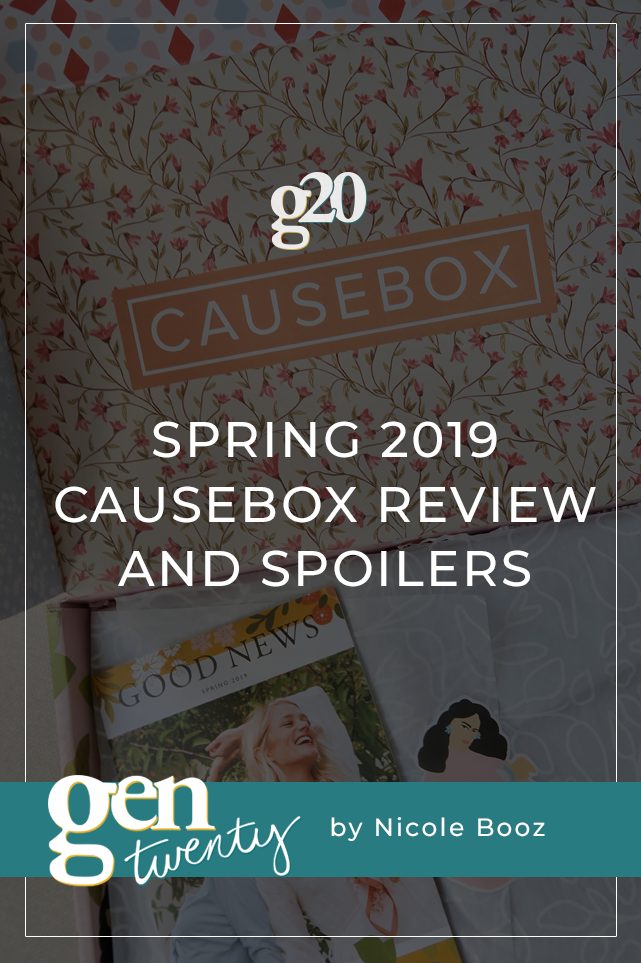 Spring 2019 CAUSEBOX Review and Spoilers