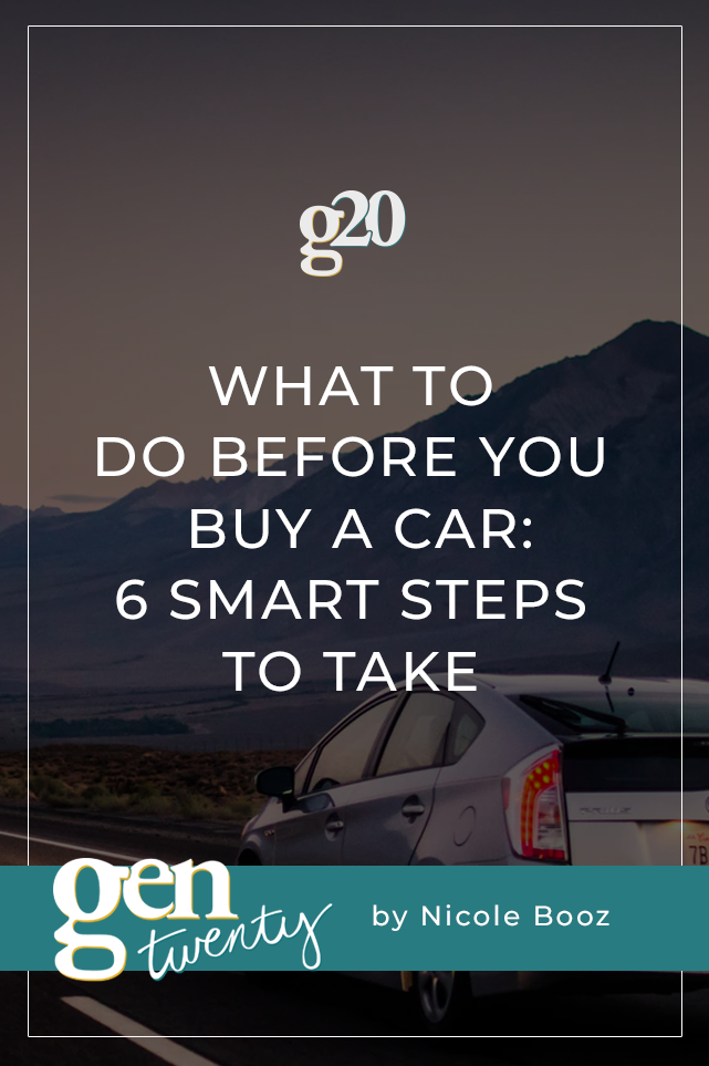 what to do before you buy a car