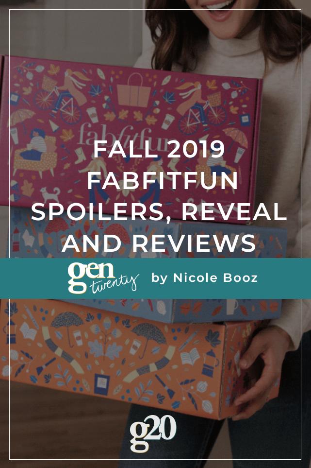 Fall 2019 FabFitFun Spoilers, Reveal and Reviews