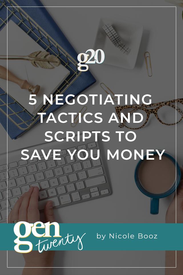 negotiating tactics and scripts