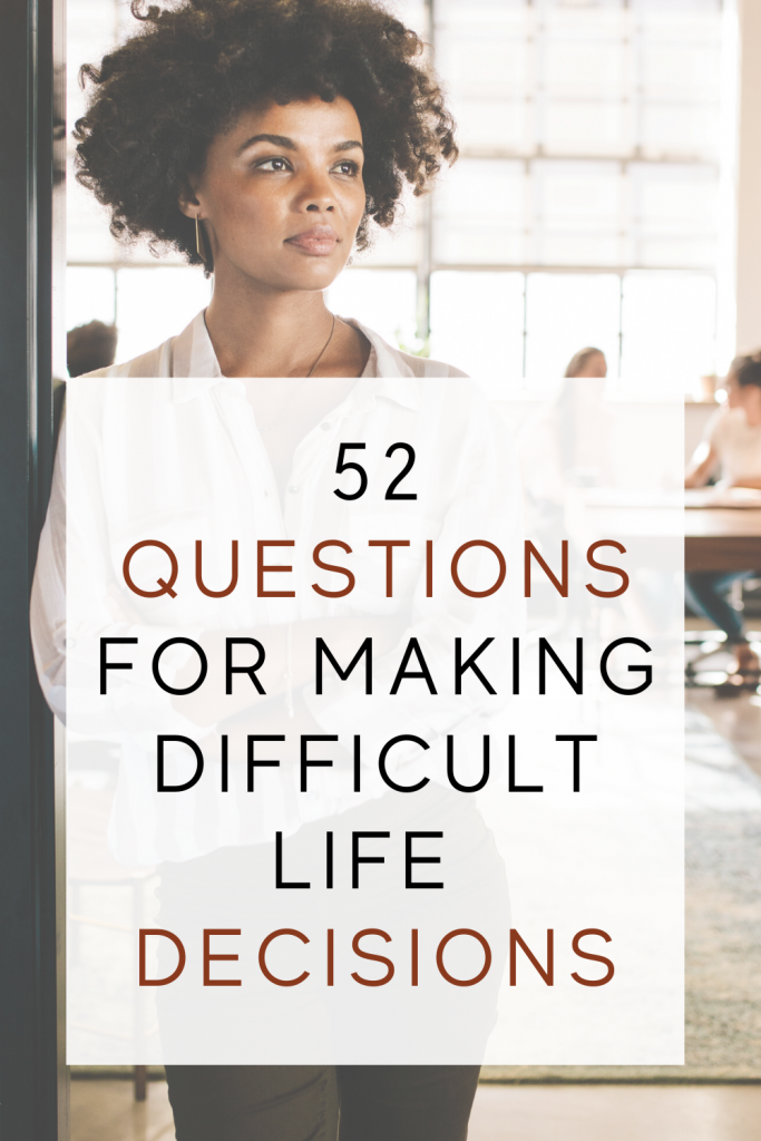 52 Questions For Making Difficult Life Decisions title image