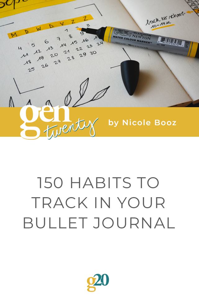 150 Habits To Track In Your Bullet Journal