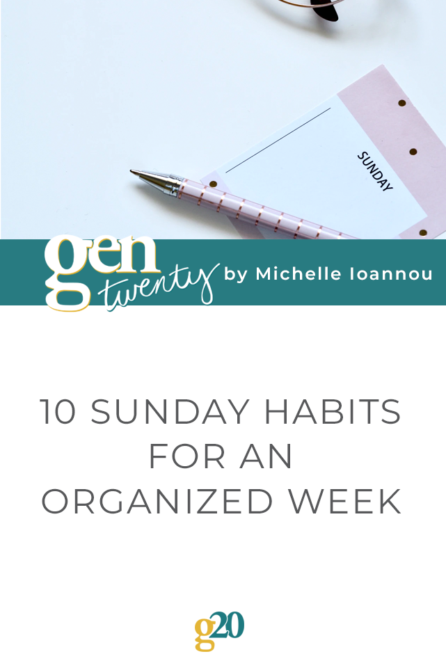 sunday habits for an organized week