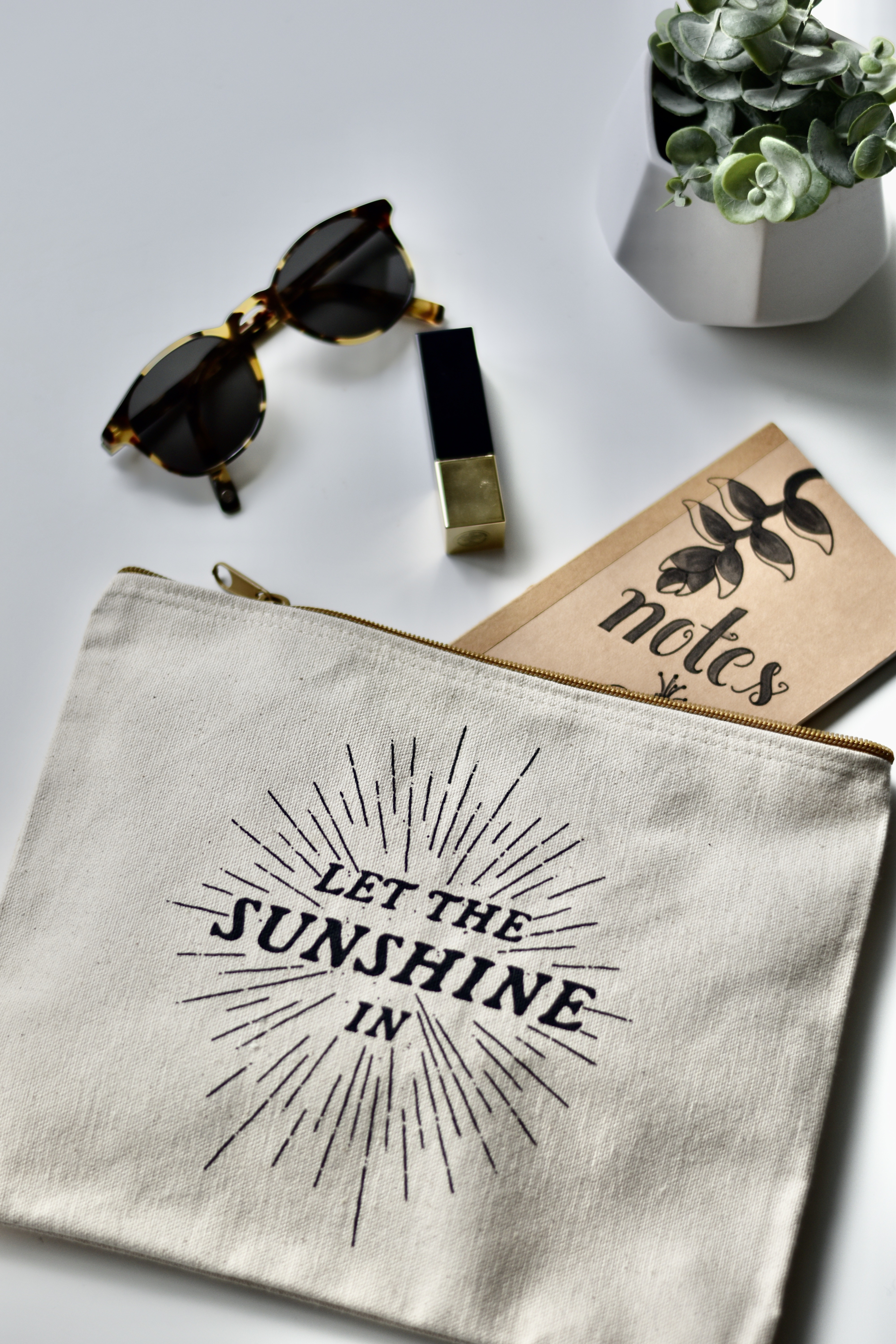 let the sunshine in pouch