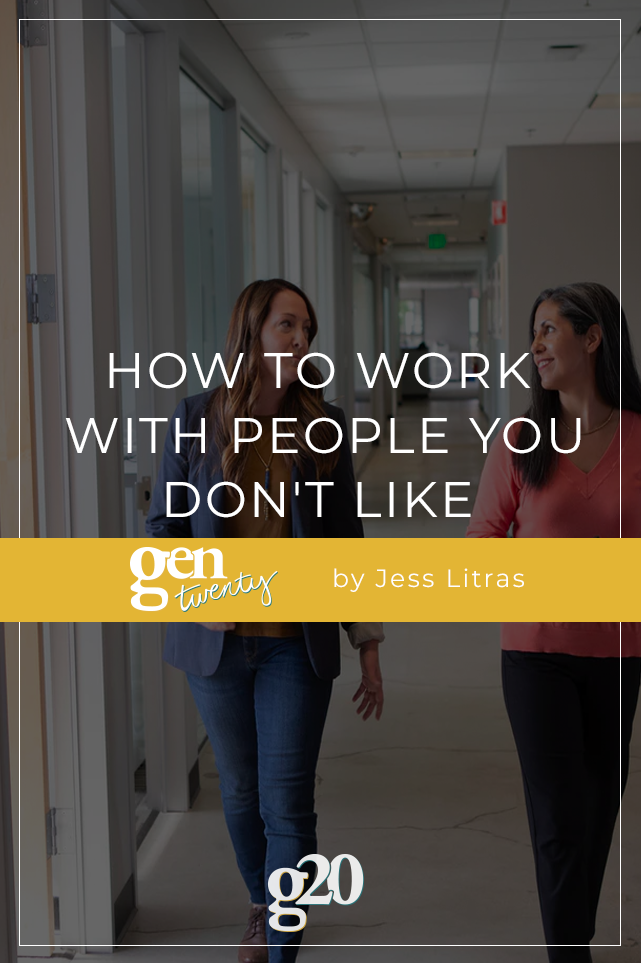 how to work with people you don't like